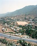 ERITREA, Nefasit, elevated view of the town of Nefasit