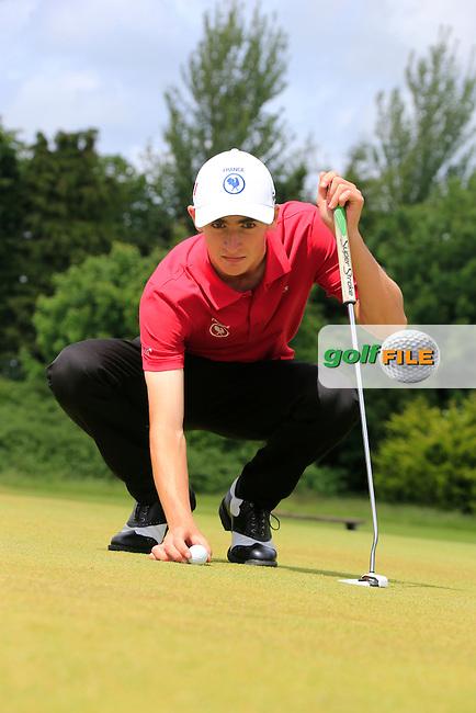 Adrien Pendaries (France) winner of the 2015 Irish Boys Amateur Open Championship, Tuam Golf Club, Tuam, Co Galway. 26/06/2015<br /> Picture: Golffile | Fran Caffrey