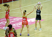 20.01.2018 Shannon Francois of Silver Ferns and Jade Clarke of the England Roses during the Netball Quad Series netball match between England Roses and Silver Ferns at the Copper Box Arena in London. Mandatory Photo Credit: ©Ben Queenborough/Michael Bradley Photography