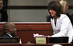 Nevada Assemblyman William Horne, D-Las Vegas, reacts to a birthday gift delivered by Assemblywoman Teresa Benitez Thompson on the Assembly floor at the Legislature in Carson City, Nev. on Friday, Feb. 25, 2011..Photo by Cathleen Allison