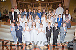 The pupils  from gaelscoil Aogain at their First Holy Communion in St Stephen and Johns church Castleisland on Saturday