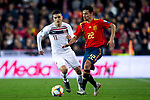 Norway's Mohamed Elyounoussi and Spain's Jesus Navas  during the qualifying match for Euro 2020 on 23th March, 2019 in Valencia, Spain. (ALTERPHOTOS/Alconada)