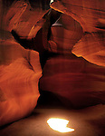 Burst of sunight in Antelope Canyon, a slot canyon near Lake Powell, Page, Arizona, USA .  John offers private photo tours in Arizona and and Colorado. Year-round.