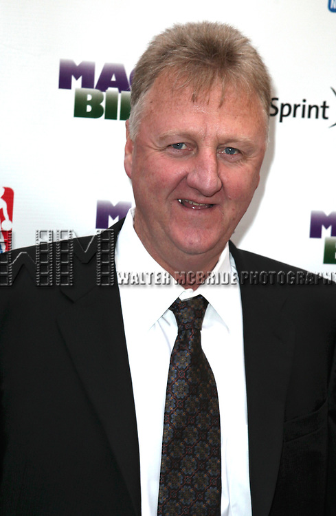"""Larry Bird pictured at the """"Magic/Bird"""" Opening Night Arrivals at the Longacre Theatre in New York City on April 11, 2012 © Walter McBride / WM Photography  Ltd."""