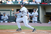 June 20th 2008:  Ryan Blair of the Mahoning Valley Scrappers, Class-A affiliate of the Cleveland Indians, during a game at Frontier Field in Rochester, NY - home of the Rochester Red Wings.  Photo by:  Mike Janes/Four Seam Images