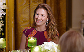 Mrs. Sophie Gr&eacute;goire Trudeau smiles during a state dinner at the White House honoring herself and Prime Minister Justin Trudeau of Canada March 10, 2016 in Washington, DC. <br /> Credit: Olivier Douliery / Pool via CNP