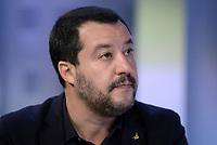 Roma,29 Novembre 2018<br /> Matteo Salvini durante la trasmissione televisiva L'aria che tira