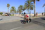 Nacer Bouhanni (FRA) Cofidis during Stage 1 of the La Vuelta 2018, an individual time trial of 8km running around Malaga city centre, Spain. 25th August 2018.<br /> Picture: Eoin Clarke | Cyclefile<br /> <br /> <br /> All photos usage must carry mandatory copyright credit (© Cyclefile | Eoin Clarke)