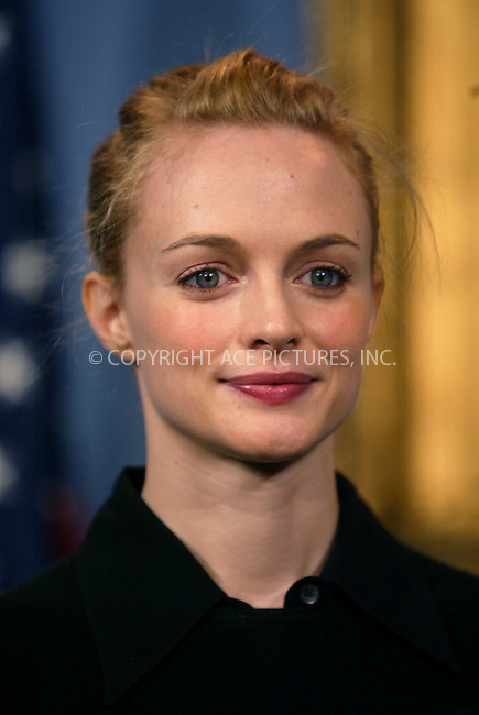 Hollywood actress Heather Graham making an appearance at the City Hall to help Mayor Bloomberg to launch 'Cool New York: A Winter Celebration of Arts and Parks,' which is  three-week long winter celebration events presented by American Express. New York, January 5, 2004. Please byline: NY Photo Press.   ..*PAY-PER-USE*      ....NY Photo Press:  ..phone (646) 267-6913;   ..e-mail: info@nyphotopress.com