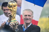 France head coach Dider Deschamps celebrates winning the World Cup Final match between France and Croatia at Luzhniki Stadium on July 15, 2018 in Moscow, Russia. (Photo by Anthony Dibon/Icon Sport)