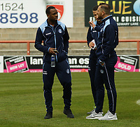 Wycombe Wanderers player arrive ahead of the Sky Bet League 2 match between Morecambe and Wycombe Wanderers at the Globe Arena, Morecambe, England on 29 April 2017. Photo by Stephen Gaunt / PRiME Media Images.