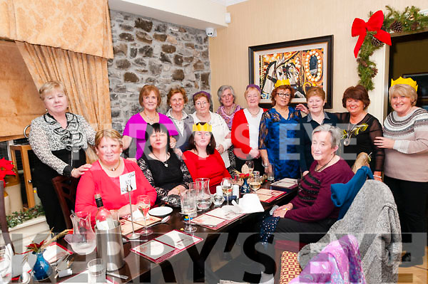 Christmas Party: Joan Buckley, second from left back row celebrating Christmas with her friends at Behan's Horseshoe Bar & Restaurant, Listowel on Saturday night last.