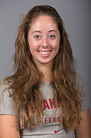 Stanford, California - October 2, 2014:  Stanford Fencing portraits.
