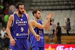 Basketball Champions League 2017/18 - Previus.<br /> Divina Seguros Joventut vs Dinamo Tbilisi: 86-66.<br /> Illia Londaridze &amp; Nodar Gododze.