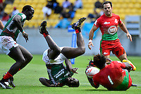 Kenya&rsquo;s Billy Odhiambo  in action during the HSBC Wellington Sevens at Westpac Stadium , Wellington, New Zealand, on Saturday 30 January 2016.<br />