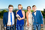Enjoying the Killarney Schools Debs at Ballyroe Heights Hotel on Monday were l-r  Jamie O'Donoghue, Shannon O'Neill, Jane Cullotty and Jack Galvin