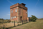 Coastal look-out tower at Hunstanton, north Norfolk coast, England