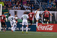 HEMPSTEAD, NY - SEPTEMBER 8: The New York Cosmos host the Atlanta Silverbacks in an NASL soccer match at Hofstra University's Shuart Stadium on September 7, 2013 in Hempstead, NY.