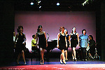 """Martina Vidmar, Leslie E. Hughes, Mary Lou Barber, Kathleen Conry perform """"One Dress"""" at """"Union Women at Work: Inspiration In Motion"""" on March 5, 2012 at Theatre at Saint Peter's Church - Home of The York Theatre, New York City, New York which was """"sponsored by Actors' Equity Associations Eastern EEO Committee.  The event was an Equity event in celebration of Womens History Month.  (Photo by Sue Coflin/Max Photos) (Photo by Sue Coflin/Max Photos)"""
