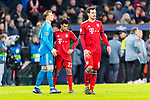 13.03.2019, Allianz Arena, Muenchen, GER, UEFA CL, FC Bayern Muenchen (GER) vs FC Liverpool (GBR) ,Achtelfinale, UEFA regulations prohibit any use of photographs as image sequences and/or quasi-video, im Bild Manuel Neuer (FCB #1) Serge Gnabry (FCB #22) Mats Hummels (FCB #5) enttaeuscht<br /> <br /> Foto © nordphoto / Straubmeier