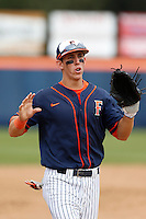 Michael Lorenzen #55 of the Cal State Fullerton Titans during a game against the Oregon Ducks at Goodwin Field on March 3, 2013 in Fullerton, California. (Larry Goren/Four Seam Images)