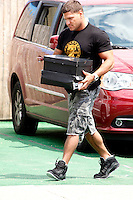 Ronnie pictured with boxes of shoes during filming of The Jersey Shore Show season six in Seaside Heights, New Jersey on June 25, 2012  © Star Shooter / MediaPunchInc *NORTEPHOTO* **SOLO*VENTA*EN*MEXICO** **CREDITO*OBLIGATORIO** **No*Venta*A*Terceros** **No*Sale*So*third** *** No*Se*Permite Hacer Archivo** **No*Sale*So*third** *Para*más*información:*email*NortePhoto@gmail.com*web*NortePhoto.com*