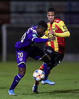 20191125 - WOLVERTEM: Anderlecht's Francis Amuzu (20) and Mechelen's Aster Vranckx are battling for the ball during the Belgian Elite U21 league football match between RSC Anderlecht U21 and KV Mechelen U21 on Monday 25th of November 2019 at F. Lathouwersstadion, Wolvertem Belgium. PHOTO: SEVIL OKTEM|SPORTPIX.BE