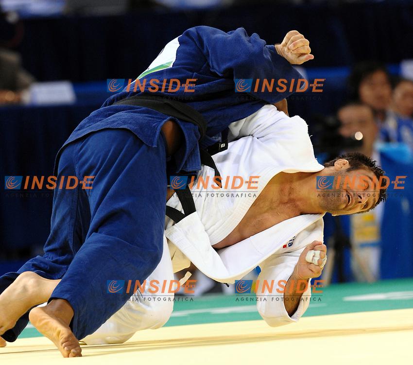 Giuseppe Maddaloni sconfitto nel torneo di Judo nei ripescaggi. Qui un momento dell'incontro con l'olandese Guillaume Elmont<br /> USTB Gymnasium <br /> Pechino - Beijing 12/8/2008 Olimpiadi 2008 Olympic Games<br /> Foto Andrea Staccioli Insidefoto