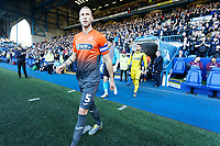 Mike van der Hoorn of Swansea City leads his team mates onto the pitch during the Sky Bet Championship match between Sheffield Wednesday and Swansea City at Hillsborough Stadium, Sheffield, England, UK. Saturday 23 February 2019