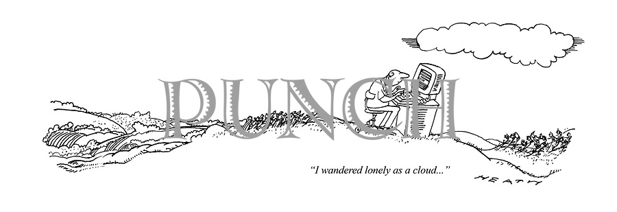 cartoons about literature authors and writers from punch punch   i wandered lonely as a cloud