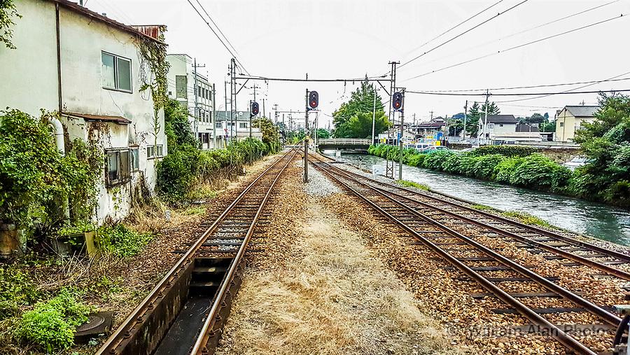 The train to Gunma, Japan, 2016. Chuuou Maebashi &ndash; Akagi<br /> Joumou Dentestu