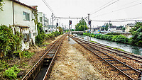 The train to Gunma, Japan, 2016. Chuuou Maebashi – Akagi<br /> Joumou Dentestu
