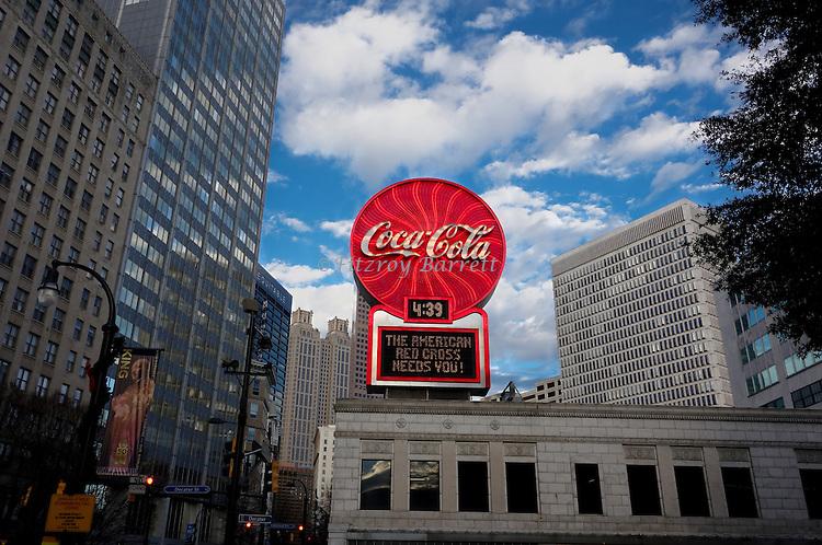Coca-Cola Neon Sign located in Woodruff Parkin Atlanta Georgia December 26, 2016. ©Fitzroy Barrett