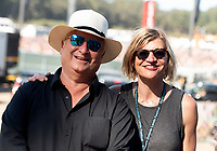 SAN FRANCISCO, CALIFORNIA - AUGUST 11: Another Planet Entertainment CEO Gregg Perloff and Another Planet Entertainment VP of strategic alliances and events Danielle Madeira photographed during the 2019 Outside Lands Music And Arts Festival at Golden Gate Park on August 11, 2019 in San Francisco, California. Photo: imageSPACE/MediaPunch<br /> CAP/MPI/IS/AB<br /> ©AB/IS/MPI/Capital Pictures
