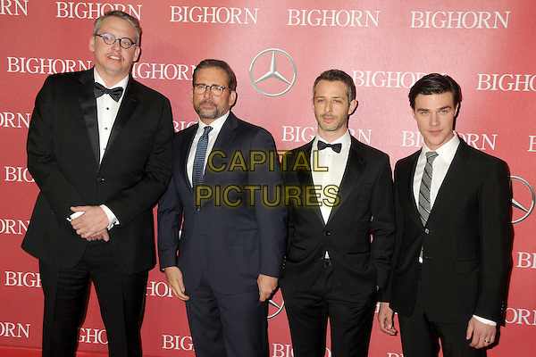 2 January 2016 - Palm Springs, California - Adam McKay, Steve Carell, Jeremy Strong, Finn Wittrock. 27th Annual Palm Springs International Film Festival Awards Gala held at the Palm Springs Convention Center.  <br /> CAP/ADM/BP<br /> &copy;BP/ADM/Capital Pictures