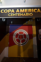 Photo before the match Peru vs Colombia, Corresponding to the quarterfinals of the America Cup 2016 Centenary at Metlife Stadium.<br /> <br /> Foto previo al partido Peru vs Colombia, Correspondiente a los Cuartos de Final de la Copa America Centenario 2016 en el Estadio Metlife, en la foto: Vestidores de Colombia<br /> <br /> <br /> 17/06/2016/MEXSPORT/Osvaldo Aguilar.
