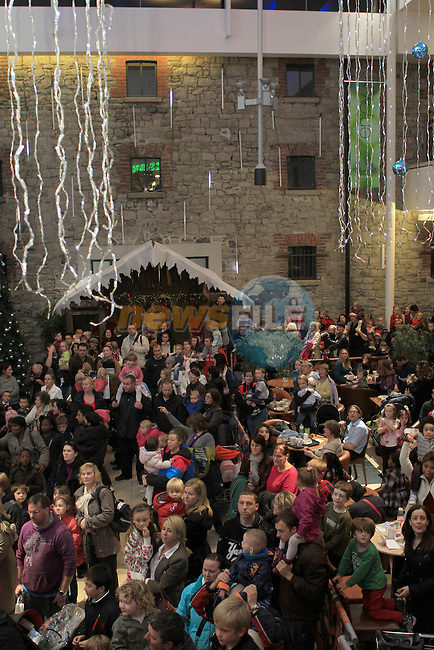 Santa arriving at Scotch Hall...(Photo credit should read Jenny Matthews www.newsfile.ie)....This Picture has been sent you under the conditions enclosed by:.Newsfile Ltd..The Studio,.Millmount Abbey,.Drogheda,.Co Meath..Ireland..Tel: +353(0)41-9871240.Fax: +353(0)41-9871260.GSM: +353(0)86-2500958.email: pictures@newsfile.ie.www.newsfile.ie.