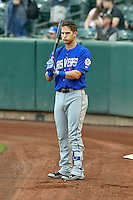 Gavin Cecchini (1) of the Las Vegas 51s before the game against the Salt Lake Bees in Pacific Coast League action at Smith's Ballpark on September 4, 2016 in Salt Lake City, Utah. The Bees defeated the 51s 4-3. (Stephen Smith/Four Seam Images)