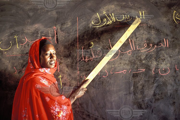 © Giacomo Pirozzi / Panos Pictures..Kordofan, SUDAN..Adult literacy class.
