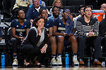 Georgia Tech Yellow Jackets head coach MaChelle Joseph watches from the sideline during first half action against the Wake Forest Demon Deacons at the LJVM Coliseum on January 22, 2017 in Winston-Salem, North Carolina.  The Demon Deacons defeated the Yellow Jackets 70-65 in overtime.  (Brian Westerholt/Sports On Film)
