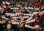 Leverksen's fans celebrate at the final whistle during the Champions League group E match at the Wembley Stadium, London. Picture date November 2nd, 2016 Pic David Klein/Sportimage