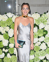 Chelsea Leyland at the LFW s/s 2017 Business of Fashion BoF500 gala dinner, The London Edition Hotel, Berners Street, London, England, UK, on Monday 19 September 2016.<br /> CAP/CAN<br /> &copy;CAN/Capital Pictures /MediaPunch ***NORTH AND SOUTH AMERICAS ONLY***
