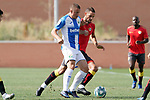 CD Leganes' Vasyl Kravets (l) and Rayo Vallecano's Mario Suarez during friendly match. July 13,2018. (ALTERPHOTOS/Acero)