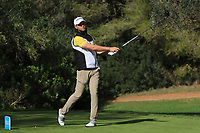 Bryce Easton (RSA) on the 5th tee during Round 3 of the Challenge Tour Grand Final 2019 at Club de Golf Alcanada, Port d'Alcúdia, Mallorca, Spain on Saturday 9th November 2019.<br /> Picture:  Thos Caffrey / Golffile<br /> <br /> All photo usage must carry mandatory copyright credit (© Golffile | Thos Caffrey)