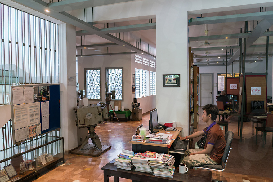 May 27, 2017 - Phnom Penh (Cambodia). View of the archival section of the Bophana Center in Phnom Penh. © Thomas Cristofoletti / Ruom