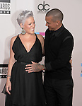 LOS ANGELES, CA. - November 21: Pink and Carey Hart arrive at the 2010 American Music Awards held at Nokia Theatre L.A. Live on November 21, 2010 in Los Angeles, California.
