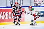 S&ouml;dert&auml;lje 2013-12-12 Ishockey Hockeyallsvenskan S&ouml;dert&auml;lje SK - Mora IK :  <br /> S&ouml;dert&auml;lje 96 David Pastrn&aacute;k Pastrnak i kamp om pucken med Mora 32 Lukas Bengtsson <br /> (Foto: Kenta J&ouml;nsson) Nyckelord: