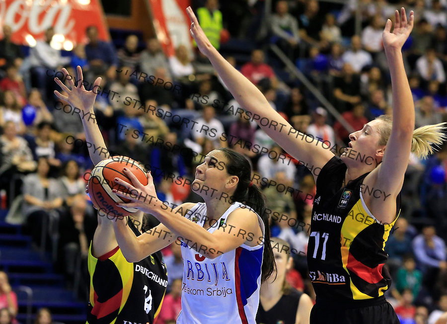 Kosarka- EuroBasket qualifiers 2017<br /> Srbija v Nemacka<br /> Sonja Petrovic (C)<br /> Beograd, 21.11.2015.<br /> foto: Srdjan Stevanovic/Starsportphoto&copy;