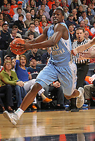 North Carolina Tar Heels forward Harrison Barnes (40) handles the ball during the game against Virginia in Charlottesville, Va. North Carolina defeated Virginia 54-51.