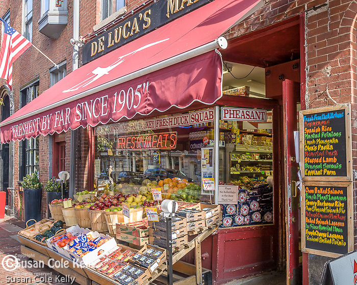 Delucas Market on Beacon Hill, Boston, MA